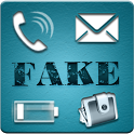 Fake Call,SMS,Balance,Battery icon