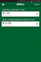 Screenshot of WSFS Bank Mobile