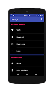 Black MTRL - Blue CM12 Theme v1.3