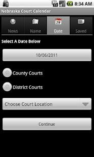 Nebraska Court Calendar Search- screenshot thumbnail