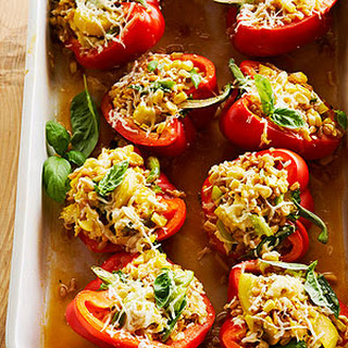 Farro-Stuffed Peppers.