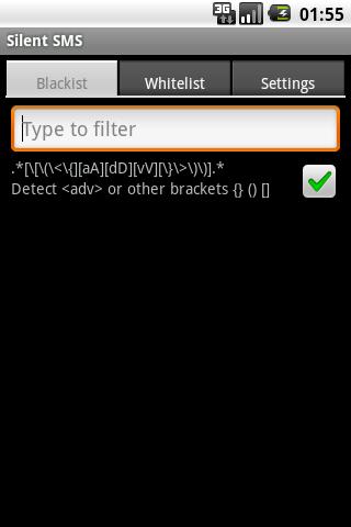 Silent SMS- screenshot