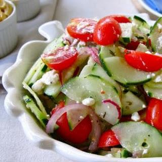 Cucumber Tomato and Feta Salad