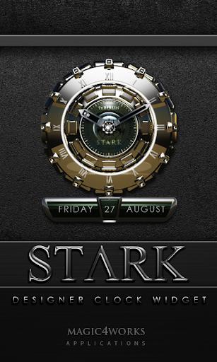 Stark designer Clock Widget