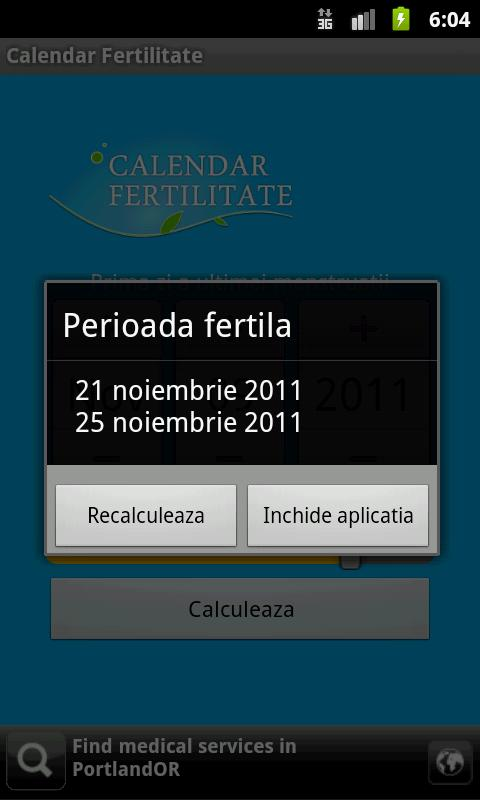 Calendar Fertilitate- screenshot