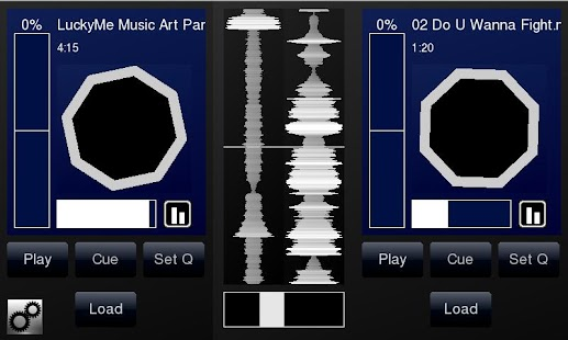 DJPad Turntable DJ Mixer - screenshot thumbnail