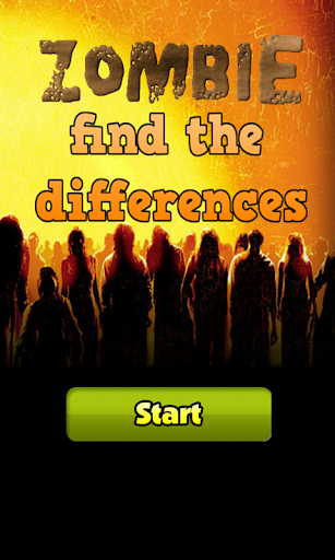 Zombie find the differences