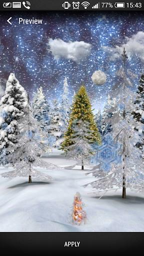 3D Winter forest