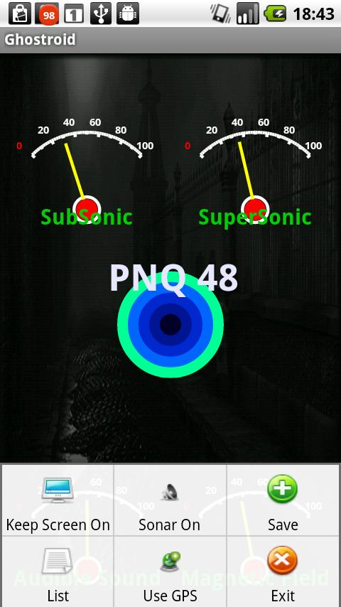 Ghostroid Paranormal Detector- screenshot