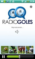 Screenshot of RadioGoles