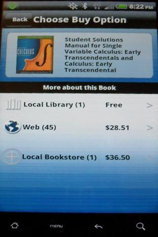 Cheap-Textbooks Price Search - screenshot