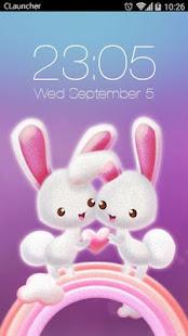 Download Love Rabbit Theme Free