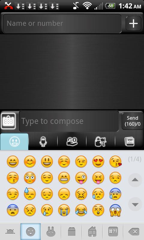 Brown Metal Theme for GO SMS- screenshot