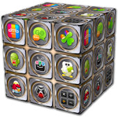 GO_Launcher_Theme - Metal_Cube