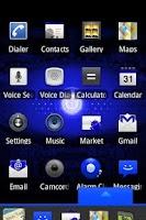 Screenshot of Blue Droid Dxtop Theme