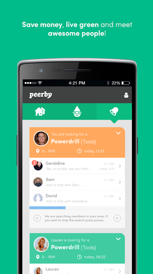 Peerby- screenshot