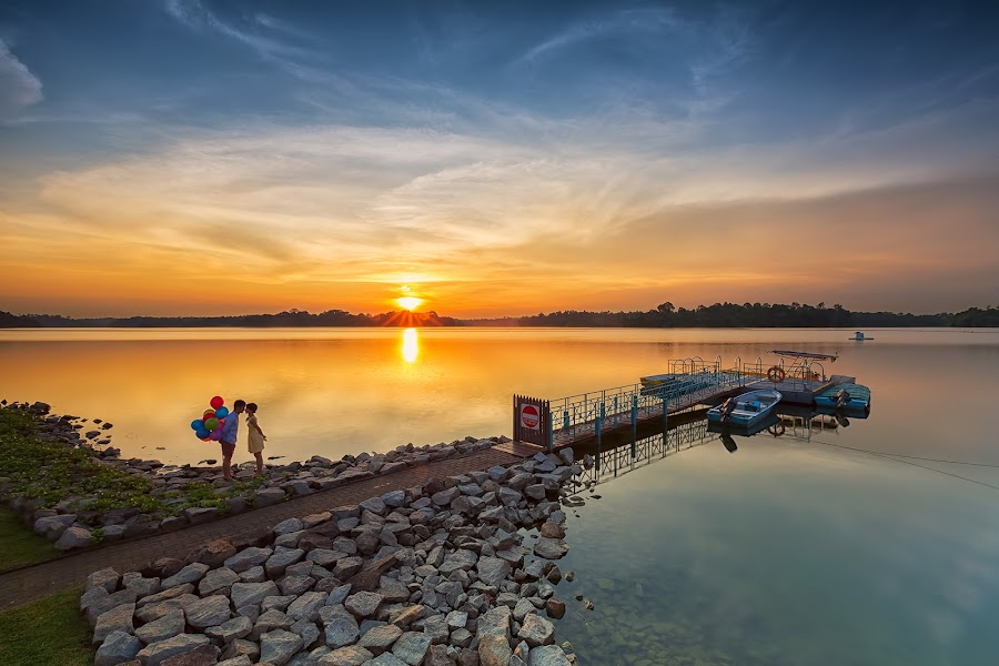Sunset Moment by Lb Chong Jacobs - Landscapes Sunsets & Sunrises
