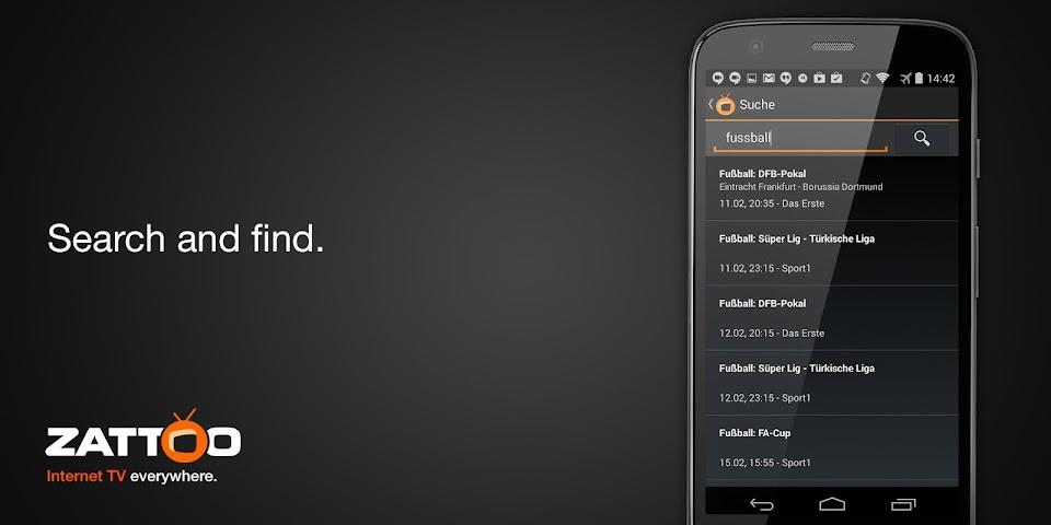 android Zattoo Live TV Screenshot 3