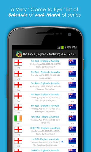 Live Cricket Scores & Schedule 1.6 screenshots 3