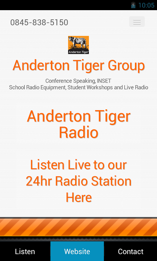 Anderton Tiger Radio- screenshot