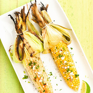 Grilled Corn with Cotija, Cilantro and Lime