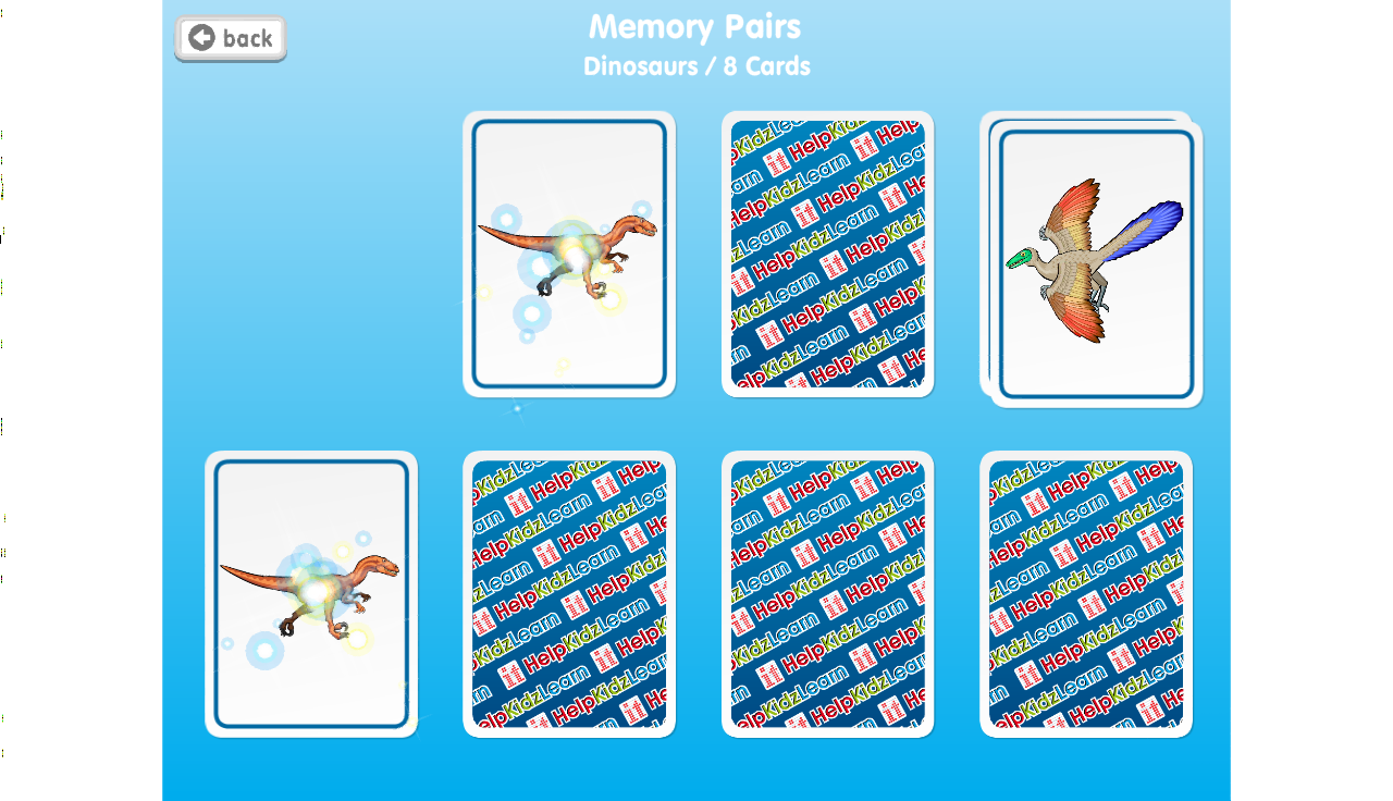 Memory Pairs- screenshot