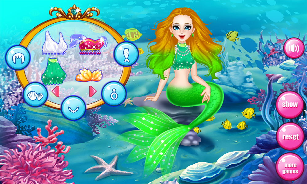 Mermaid spa games for girls- screenshot
