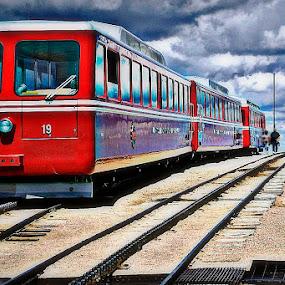 Manitou Springs Cog Railroad by Howard Mattix - Transportation Trains ( hdr, railroads, weather, travel, transportation, trains, cloids,  )
