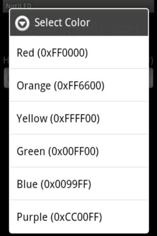 Noti LED for N1/M. Droid/Mile. - screenshot