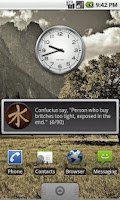 Screenshot of Confucius Say Quote Widget