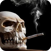 Smoking Skull Live Wallpaper
