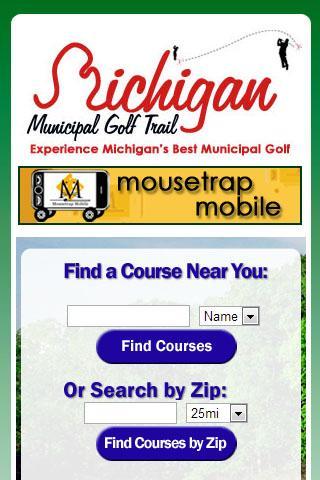 Michigan Golf Finder