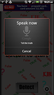 Lie Detector Voice - screenshot thumbnail