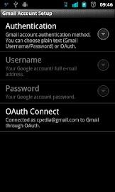 Backup to Gmail Screenshot 3
