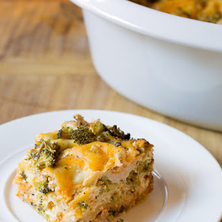 Chicken Broccoli Slow Cooker Lasagna