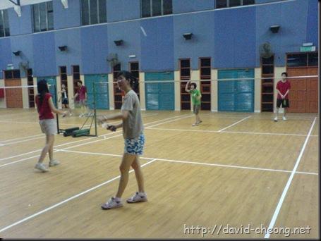 Badminton session