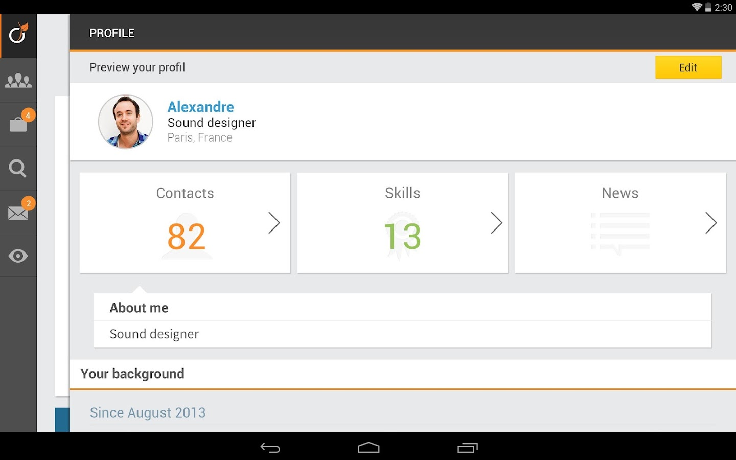 Viadeo - screenshot