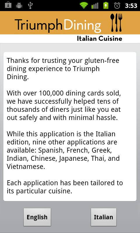Gluten Free Italian- screenshot