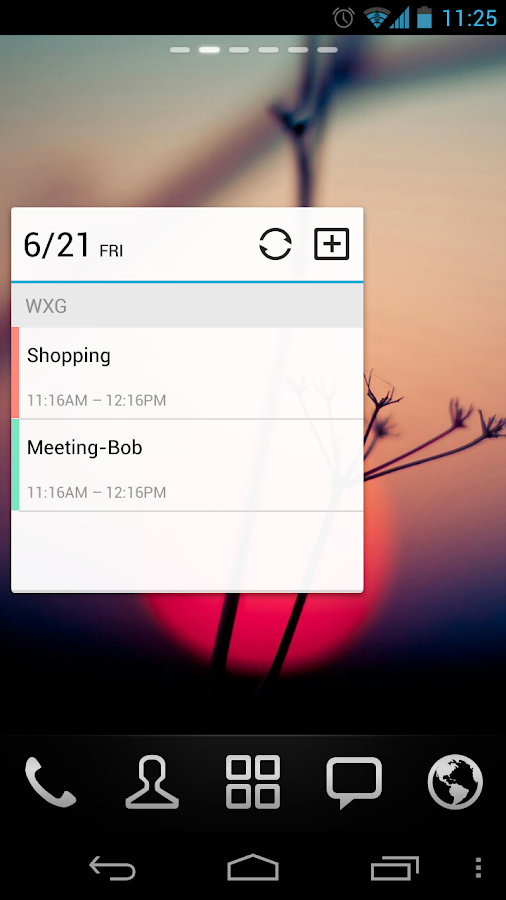GO Calendar Widget - screenshot