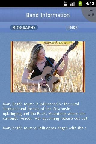 Mary Beth Cross Band - screenshot