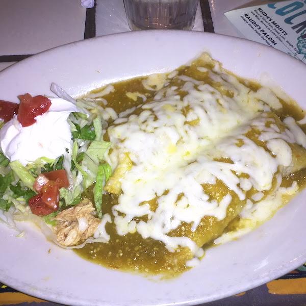 Chicken tomatillo enchiladas