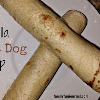 Tortilla Hot Dog Wrap.