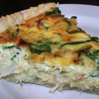 Crab and Swiss Quiche.