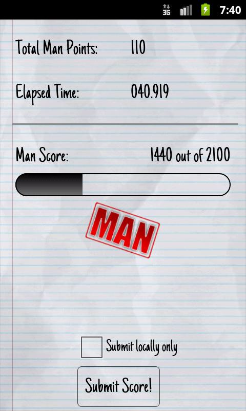 Man Test- screenshot