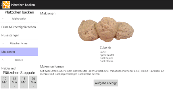 Plätzchen backen- screenshot thumbnail