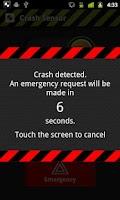 Screenshot of Crash Sensor Demo