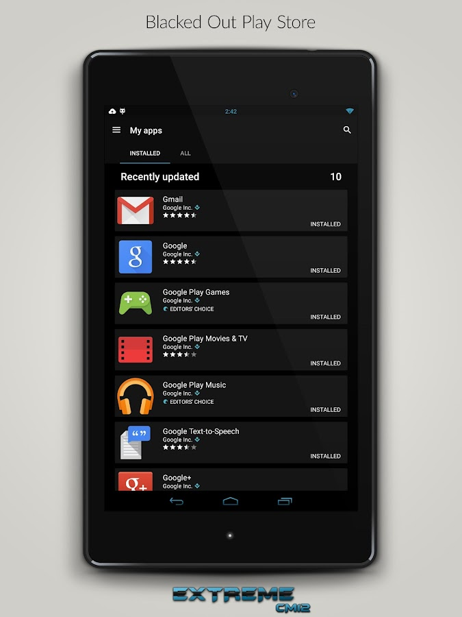 JB Extreme Theme CM11 CM12 - screenshot