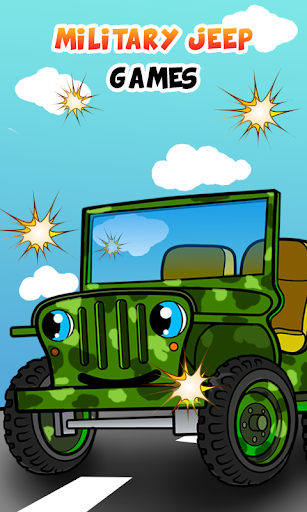 Army jeep car games for kids