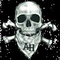 Bandit skull sticker logo