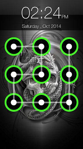 Skull Pattern Lock Screen 6.6 screenshots 5